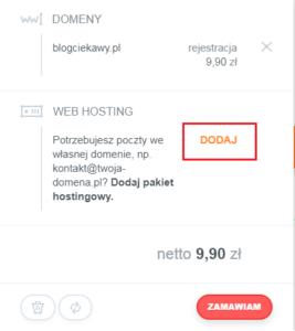dodaj hosting