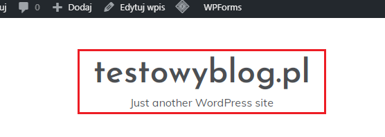 tytuł i opis bloga