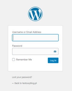 user password