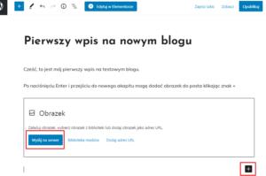 pierwszy wpis na blogu
